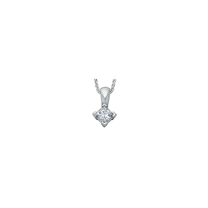 I Am Canadian Diamond Solitaire Pendant