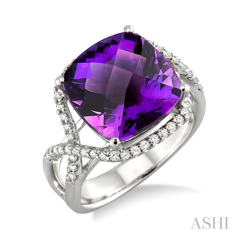 ASHI gemstone & diamond ring