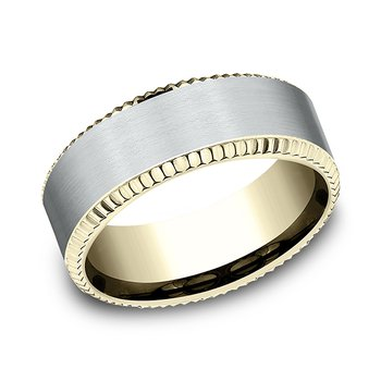 Two-Tone Comfort-Fit Design Wedding Band