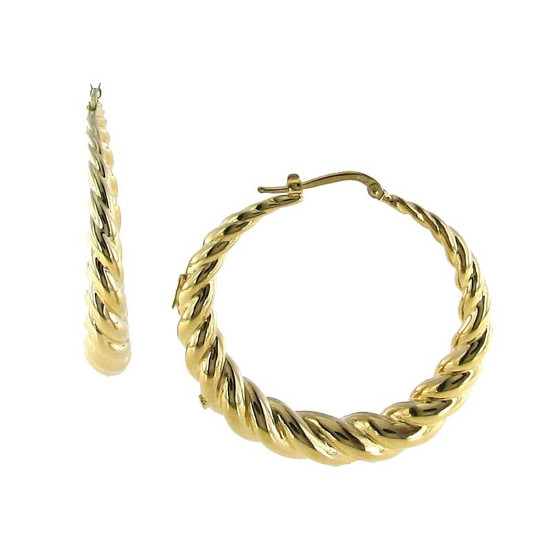 Roberto Coin 18Kt Large Twisted Round Hoops
