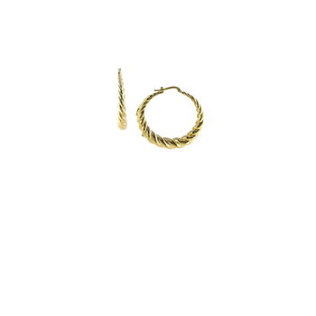 18Kt Large Twisted Round Hoops