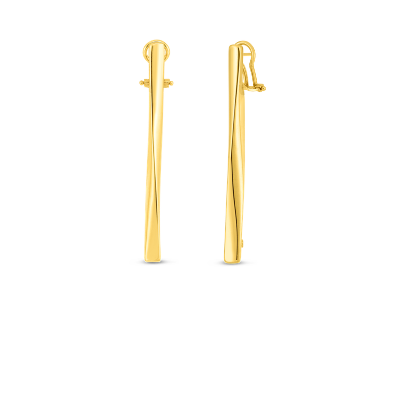 Roberto Coin 18K Gold Contoured Stick Earring