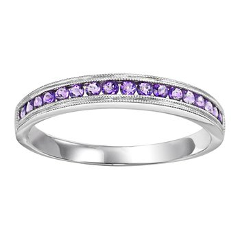 10K Amethyst Mixable Ring