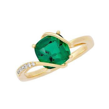 Emerald Ring-CR11729YEM