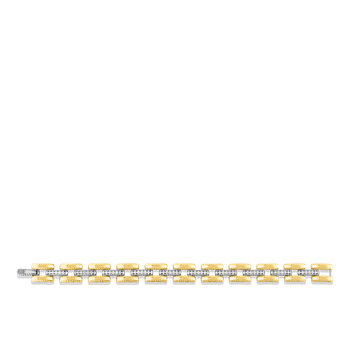 #28377 Of 18Kt Gold Slim Retro Link Bracelet With Diamonds