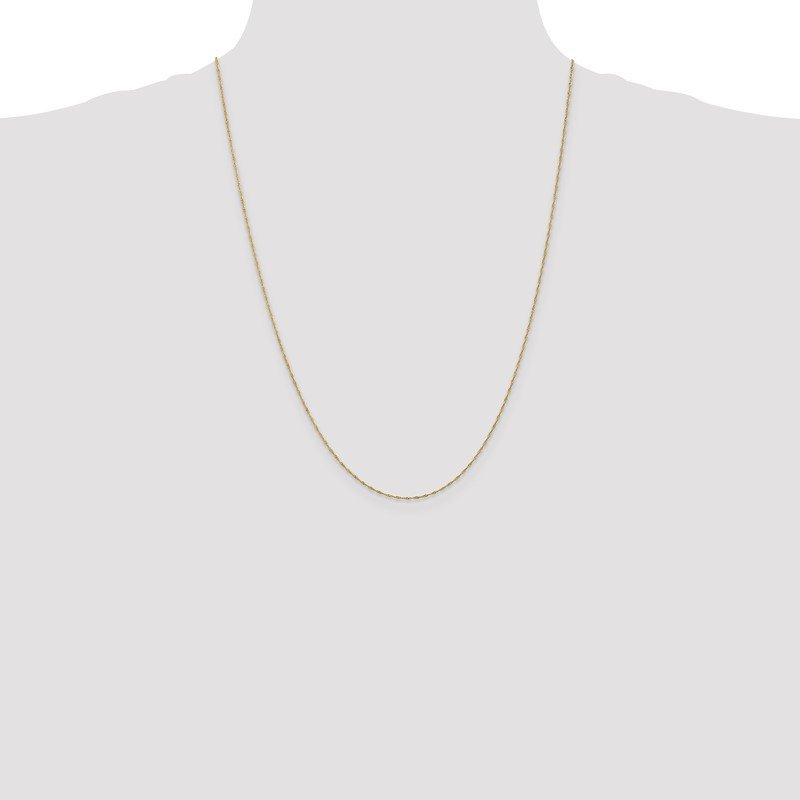Quality Gold 14k 1mm Singapore Chain