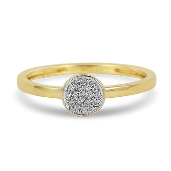 14K YG Diamond Cluster Promise Ring
