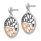 Leslie's Leslie's Sterling Silver Ruthenium & Rose-tone Flash-plated Earrings
