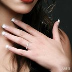 ASHI diamond east west stack ring
