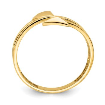 14K Heart and Arrow Ring