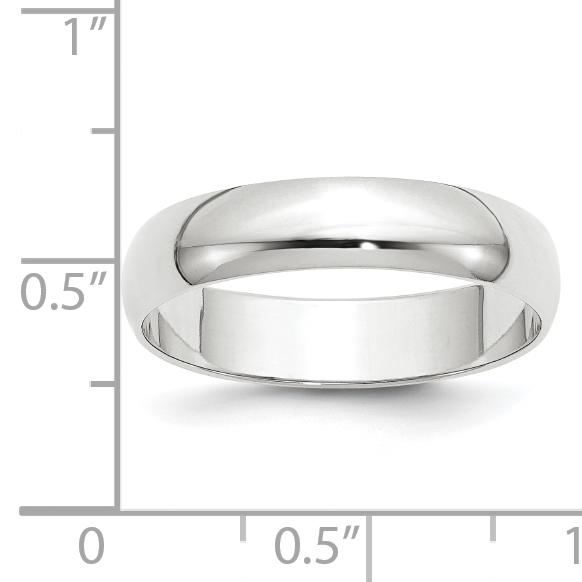 14KY 5mm LTW Half Round Band