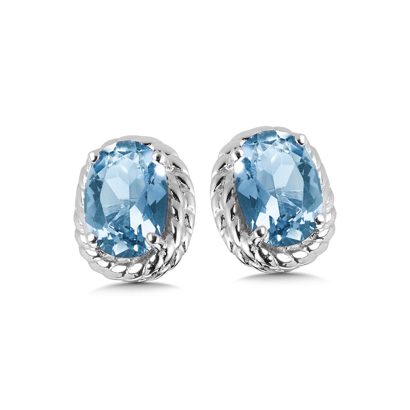SDC Creations Blue Topaz Earrings in Sterling Silver
