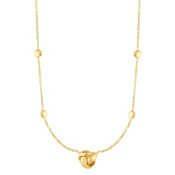 14K Gold Love Knot Necklace