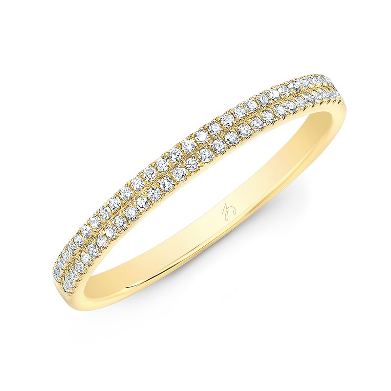 Robert Palma Designs Yellow Gold Two Row Pave Band