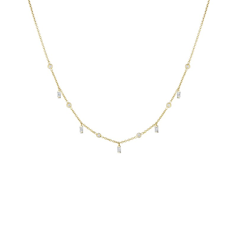 Penny Preville Baguette & Diamond Eyeglass Moderne Layering Chain Necklace