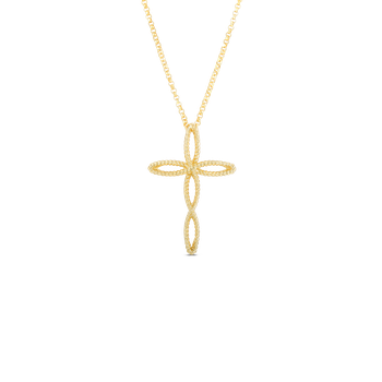 18KT GOLD CROSS PENDANT