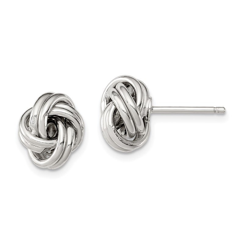 Quality Gold Sterling Silver Love Knot Earrings