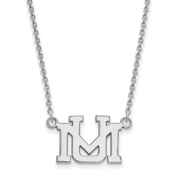 Sterling Silver University of Montana NCAA Necklace