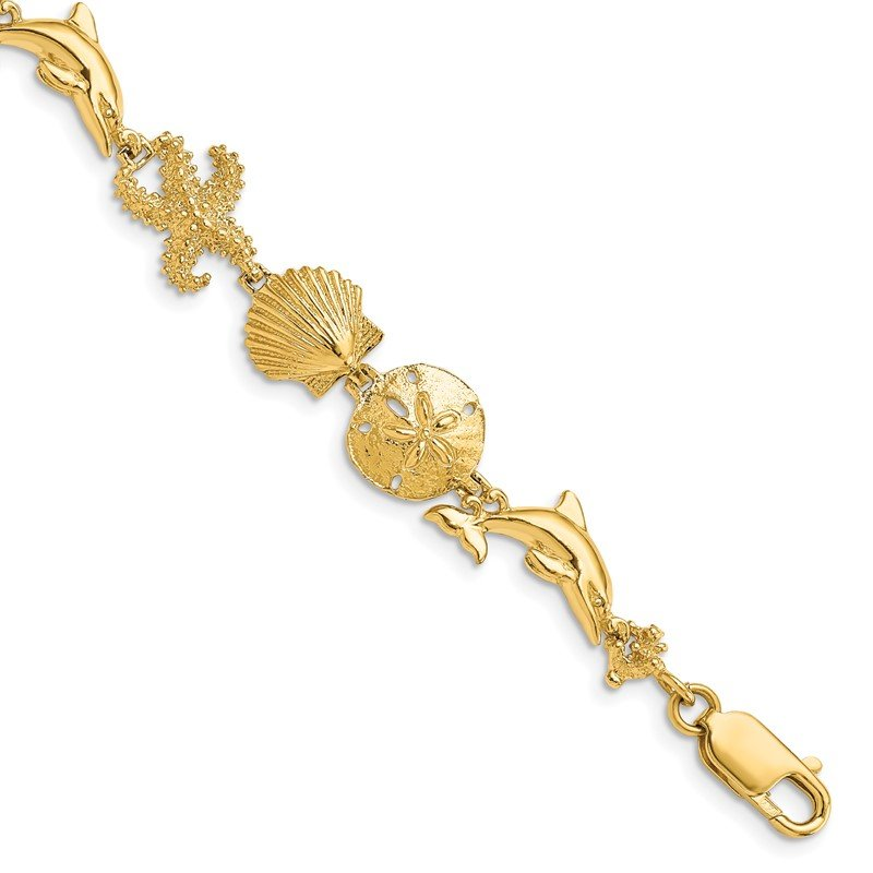 Quality Gold 14k Seashore Theme Bracelet