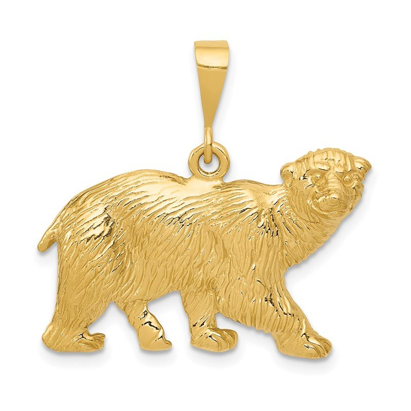 Quality Gold 14k Polar Bear Charm