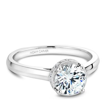 Noam Carver Modern Engagement Ring B040-01A