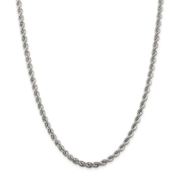 Sterling Silver 4.3mm Solid Rope Chain