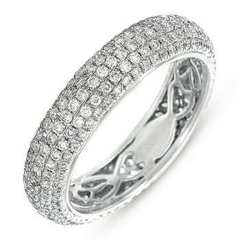White Gold Eternity Pave Band