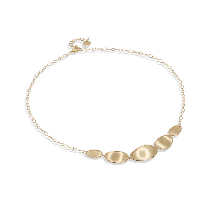 Marco Bicego Lunaria Gold Graduated Necklace