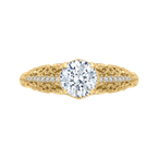 Carizza 14K Yellow Gold Round Diamond Engagement Ring (Semi-Mount)