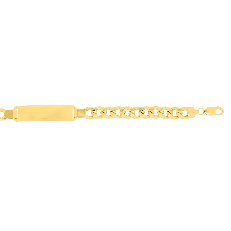 Royal Chain 14K Gold 8mm Polished ID Chain