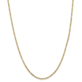 14k 2.25mm Flat Figaro Chain