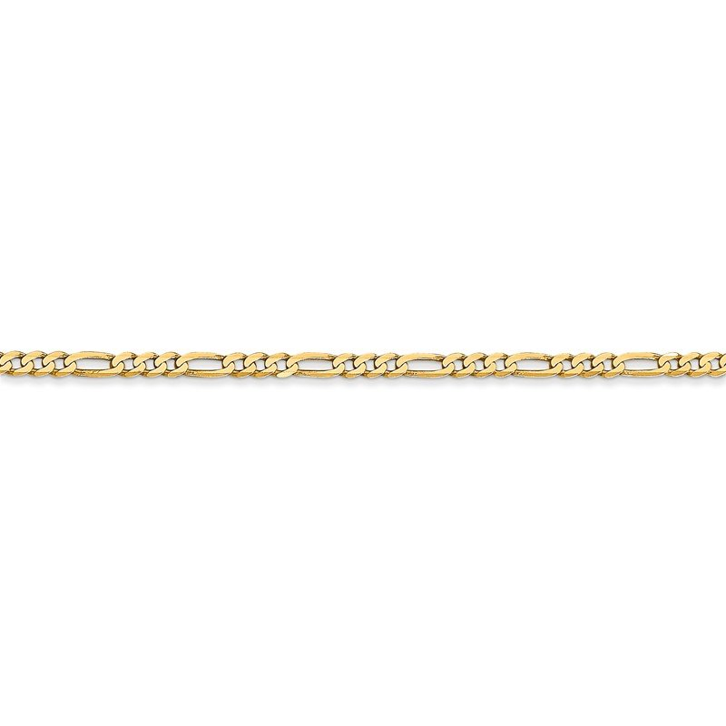 Quality Gold 14k 2.25mm Flat Figaro Chain