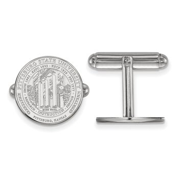 Sterling Silver Pittsburg State University NCAA Cuff Links
