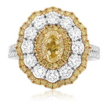 Two Tone Flowering Diamond Ring