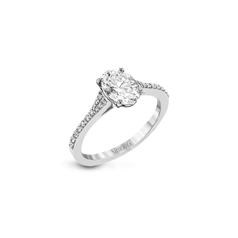 Simon G LR2507-OV ENGAGEMENT RING