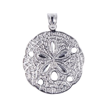 Silver Large Sand Dollar Pendant