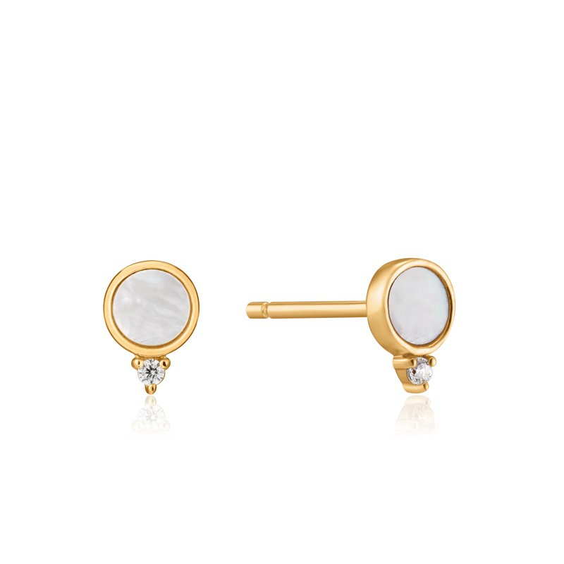 Ania Haie Mother Of Pearl Stud Earrings