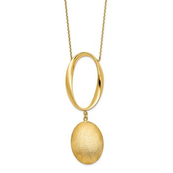 Leslie's 14k Polished Scratch-finish 2in ext. Necklace
