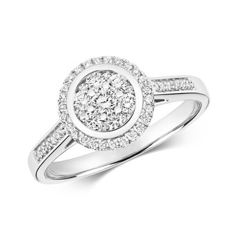 Diamond Cluster Ring Round