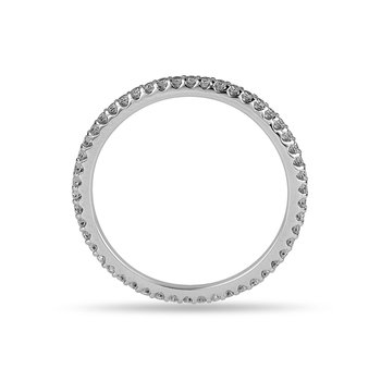 14K WG Diamond Eternity Band in Prong Setting 1/3 Cts
