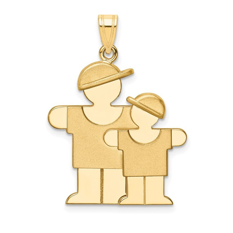 Quality Gold 14k Big Boy and Little Boy Engravable Charm