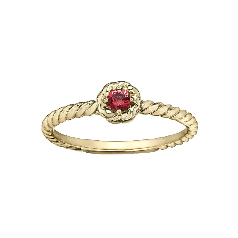 Lasting Treasures™ Garnet Ladies Solitaire