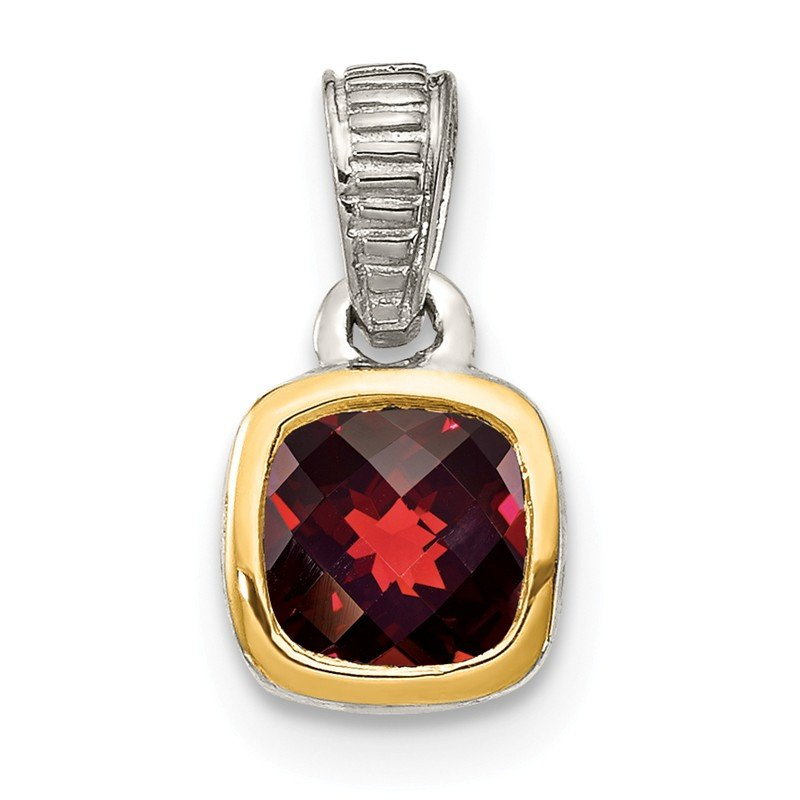 Shey Couture Sterling Silver w/ 14K Accent Garnet Pendant