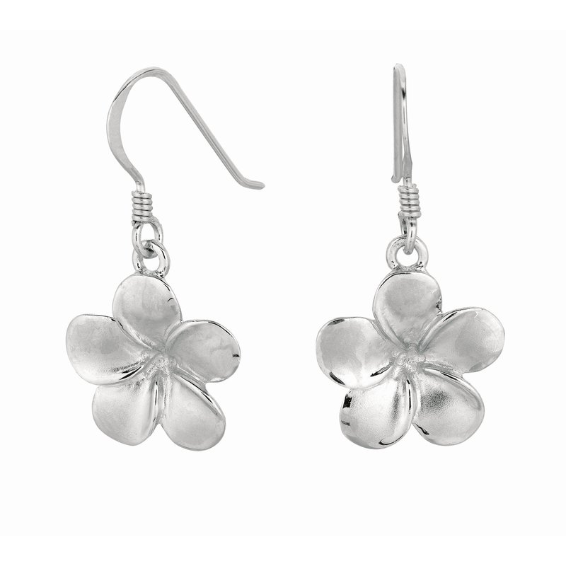 Royal Chain Silver Polished Flower Dangle Earrings