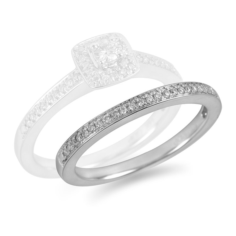 BB Impex 14K WG Diamond  Wedding Band in Pave Setting