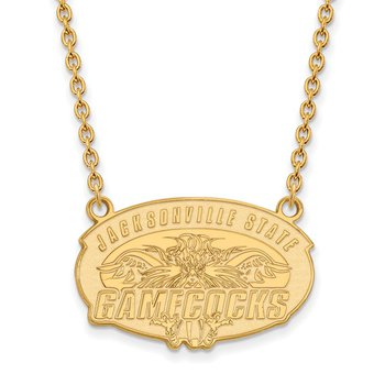Gold-Plated Sterling Silver Jacksonville State University NCAA Necklace