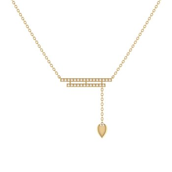 Wrecking Ball Lariat Necklace in 14 KT Yellow Gold Vermeil on Sterling Silver