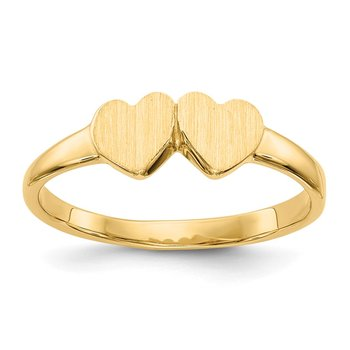 14k Childs Double Heart Ring