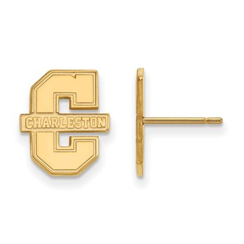 Gold-Plated Sterling Silver College of Charleston NCAA Earrings