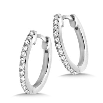 Petite Diamond Huggie Hoop Earrings